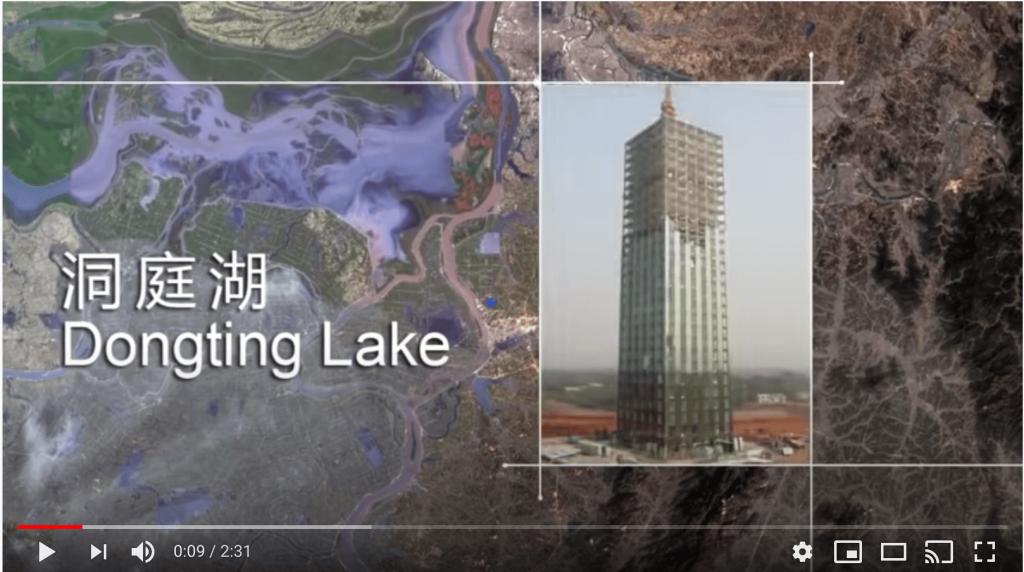 30 stöckige Hochhaus am Dongting Lake in China,